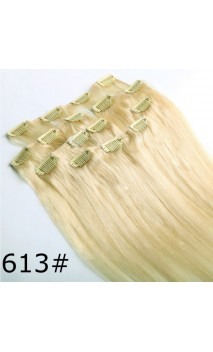 Dabīgo matu treses ar klipšiem 53cm 100g n613