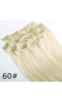Натуральные волосы на заколках 53 см 100 грамм n60