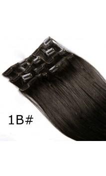 Dabīgo matu treses ar klipšiem 53cm 100g n1