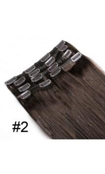 Натуральные волосы на заколках 53 см 100 грамм n1B