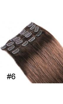 Dabīgo matu treses ar klipšiem 53cm 100g n4