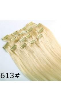 Dabīgo matu treses ar klipšiem 50cm 70g n22
