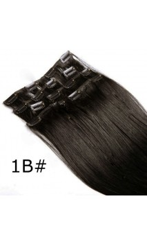 Dabīgo matu treses ar klipšiem 50cm 70g n1