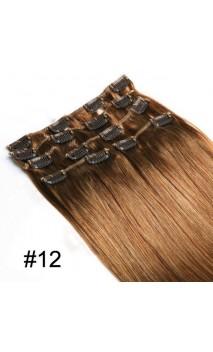 Натуральные волосы на заколках 50 см 70 грамм n8