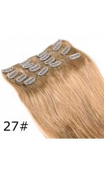Натуральные волосы на заколках 50 см 70 грамм n12
