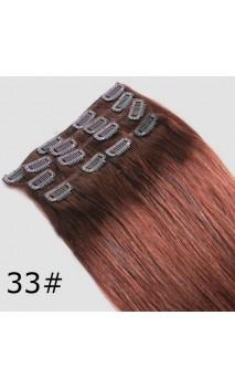 Натуральные волосы на заколках 50 см 70 грамм n27