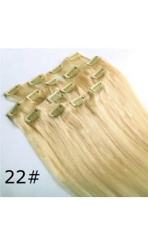 Натуральные 50 см 70 грамм волосы на заколках n22