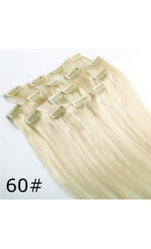 Dabīgo matu treses ar klipšiem 50cm 70g n613