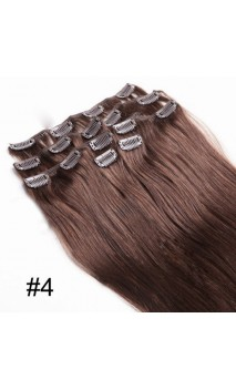 Dabīgo matu treses ar klipšiem 50cm 70g n4