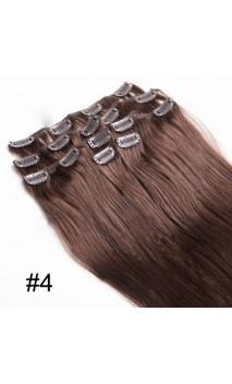 Натуральные волосы на заколках 50 см 70 грамм n4