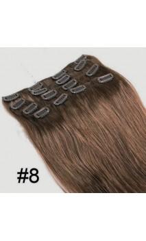 Натуральные волосы на заколках 50 см 70 грамм n6